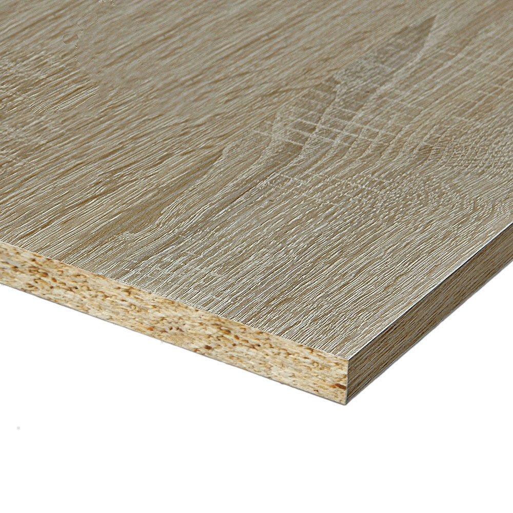 2 Seiten umleimt M/öbelbauplatte Regalbrett Sonoma Eiche 2600 x 600 x 19 mm