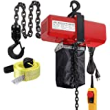 Partsam 1100lbs Lift Electric Chain Hoist Single Phase Overhead Crane Garage Ceiling Pulley Winch Hook Mount G80 Chain w…
