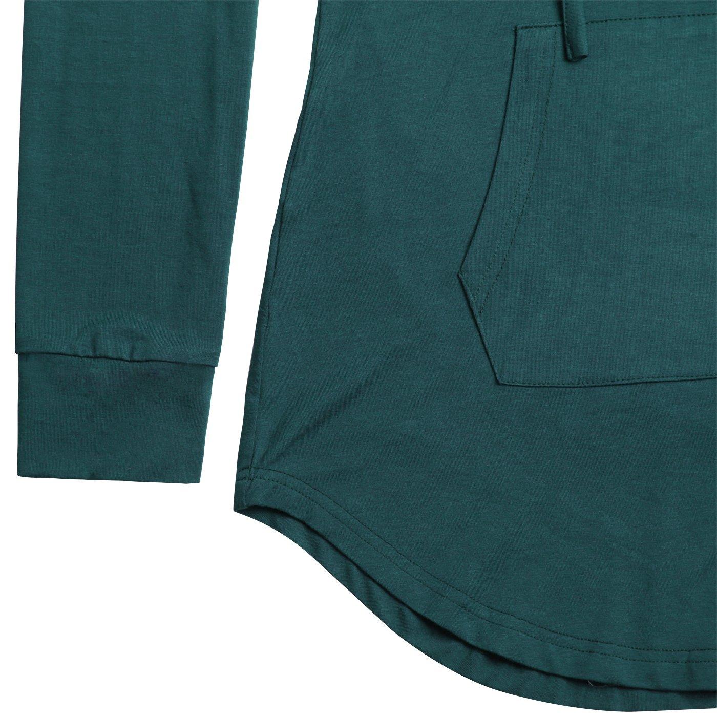 Nandashe Women Pullover V-Neck Long Sleeve Kangaroo Pocket Tunic Hoodies