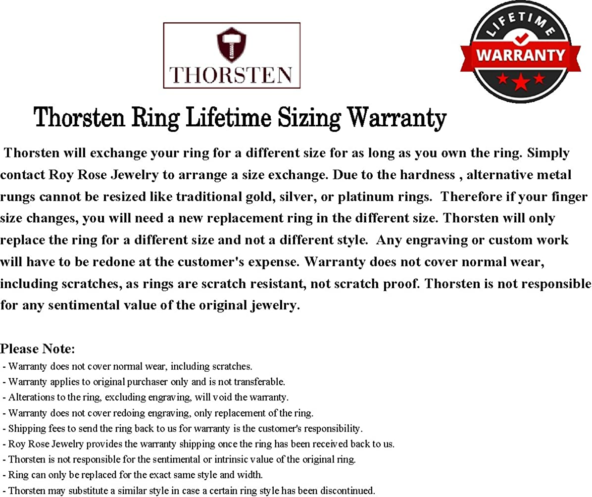 Thorsten Simple Artistic Fishing Hook Fish Sea Print Pattern Ring Flat Polished Tungsten Ring 4mm Wide Wedding Band from Roy Rose Jewelry