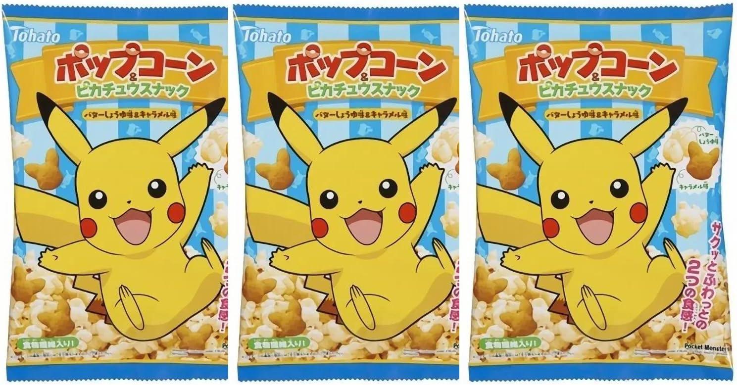 Palomitas Pikachu con Snack de Caramelo / Pokemon (Pack ...