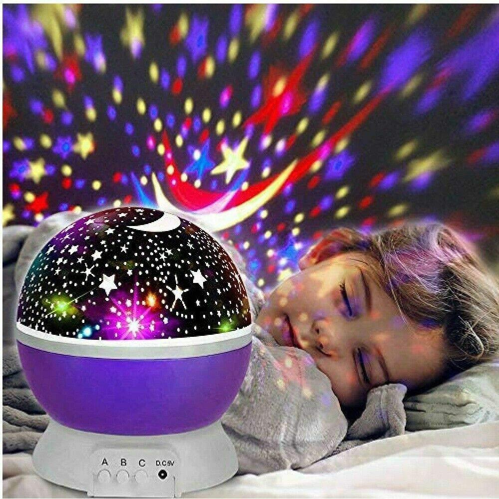 luz LED nocturna Proyector giratorio de estrellas l/ámpara de efecto estrellado
