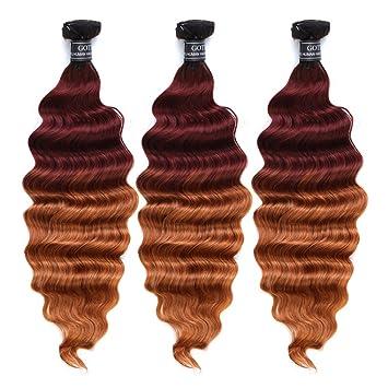 Amazon Com Gotta Ombre Auburn Blonde Ombre Hair Bundles 100