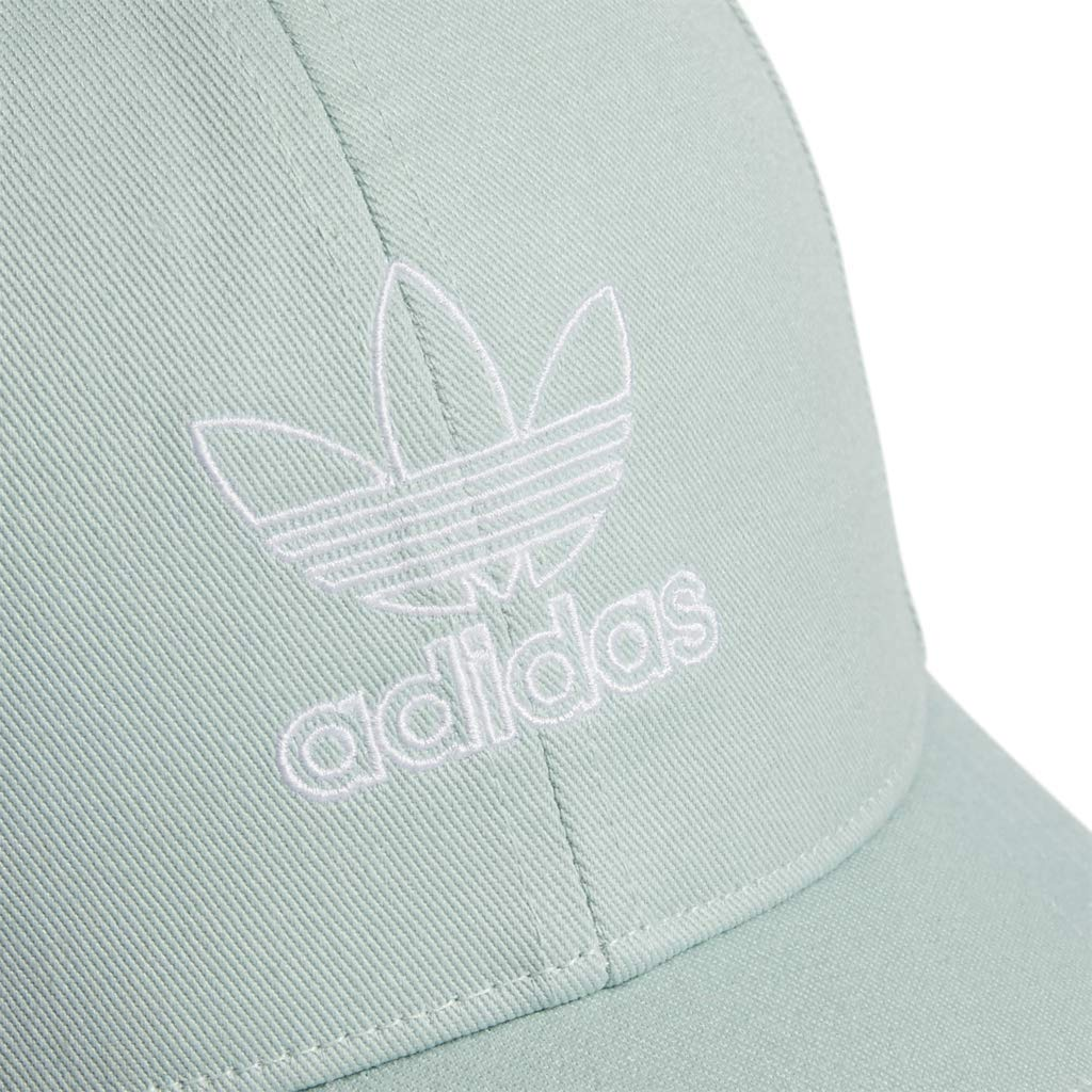 adidas Women's Originals Outline Logo Relaxed Adjustable Cap, Ash Green/White, One Size by adidas (Image #5)
