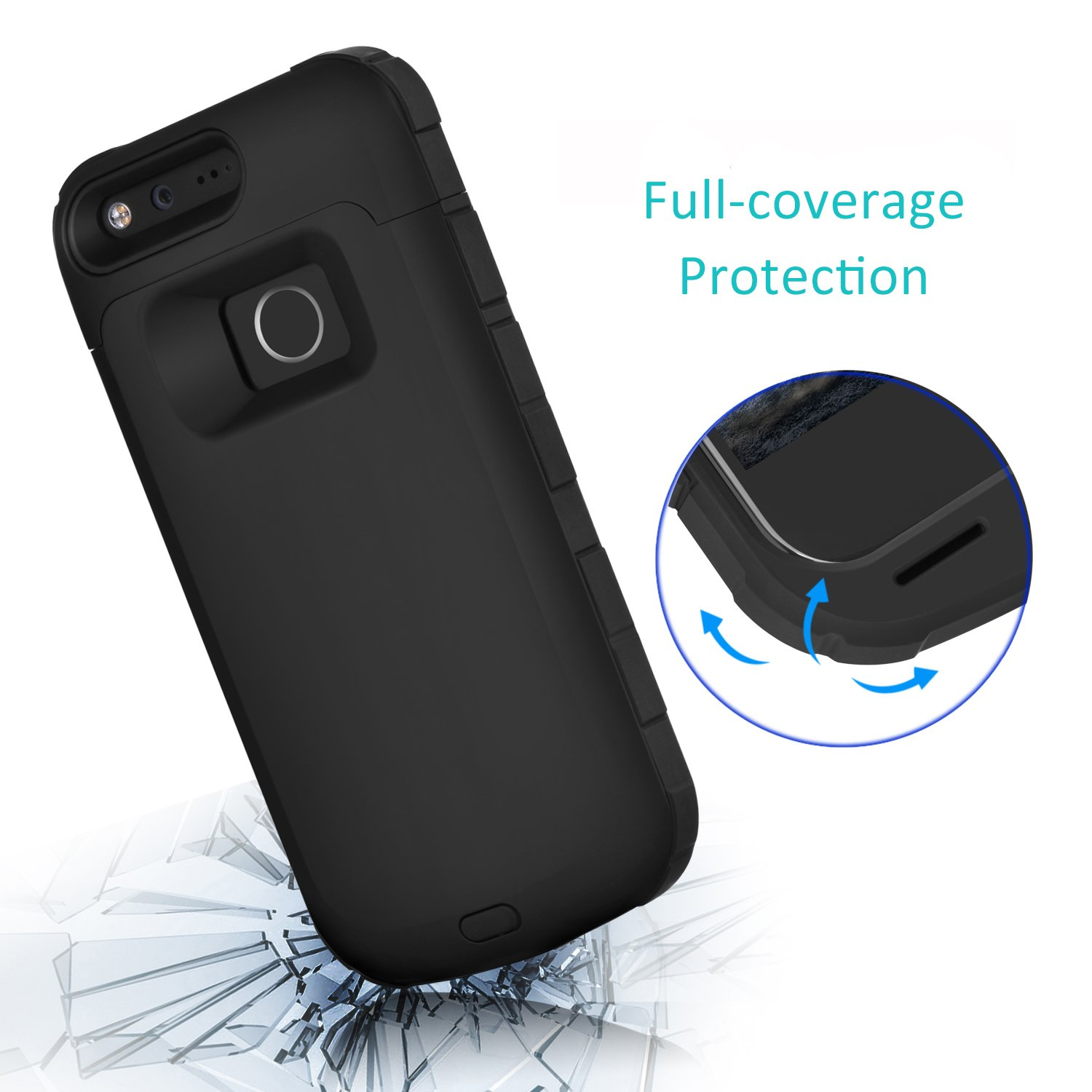 Google Pixel 4000mAh Battery Case Iconic Portable Charger