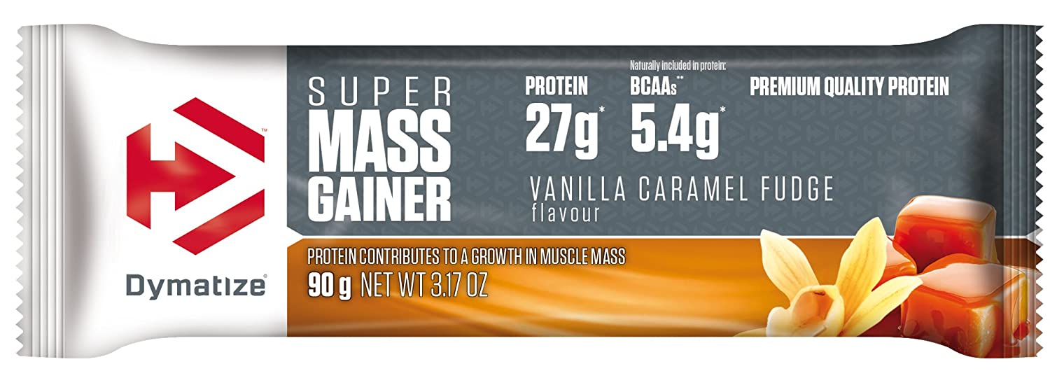 Dymatize Super Mass Gainer Bar Vanilla Caramel Fudge - 10 Barras: Amazon.es: Salud y cuidado personal