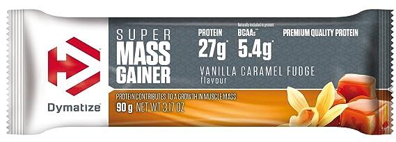 Dymatize Super Mass Gainer Bar Vanilla Caramel Fudge - 10 Barras: Amazon.es: Salud y cuidado personal