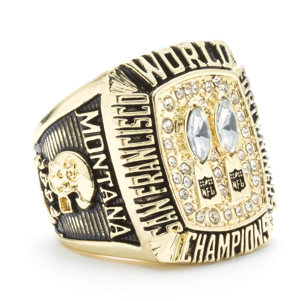 San Francisco 49ers 1984 Super Bowl XIX Rings Fans Gift Size 9-13 Twcuy Football Championship Replica Ring for Men