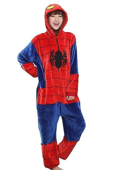 enorme sconto 60dc5 98507 Haroty Unisex Adulto Spider-Man Camicie da Notte Pigiama da ...