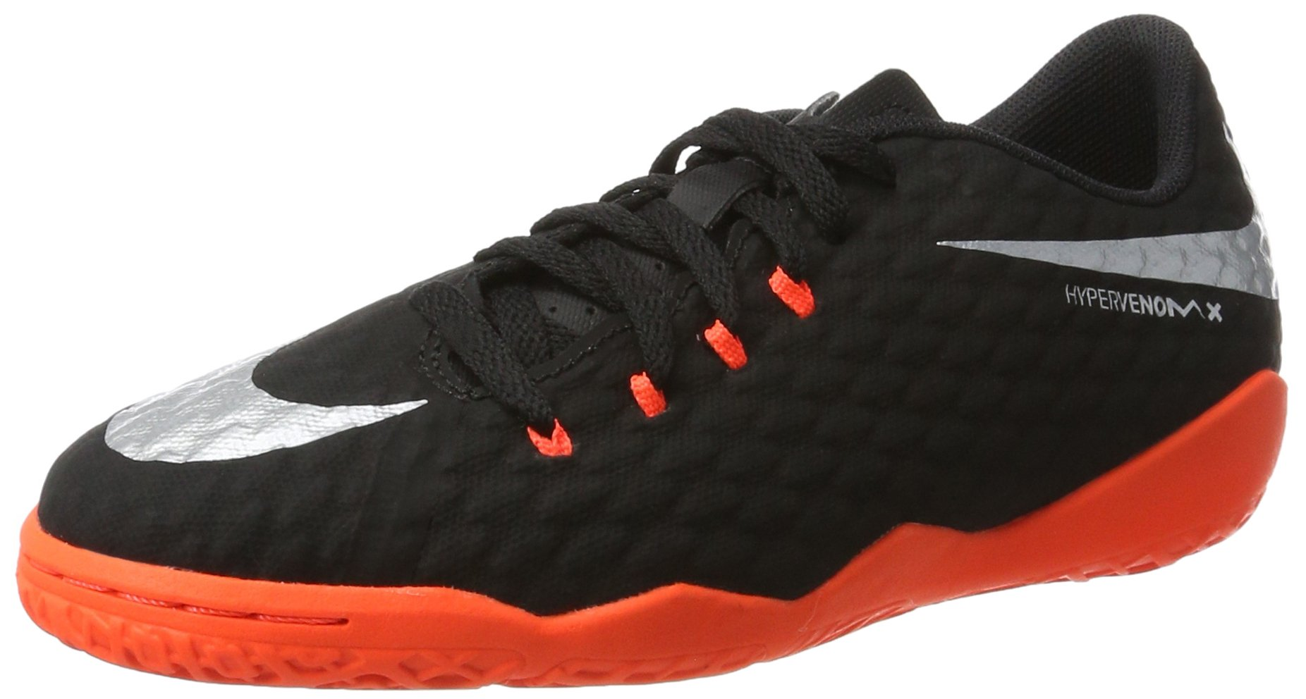 NIKE Youth Hypervenomx Phelon III Indoor Shoes [Black] (4.5Y)