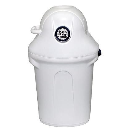 Y cambiador para pañales Champ® de pañal para disponer papelera de plástico con tapa sin