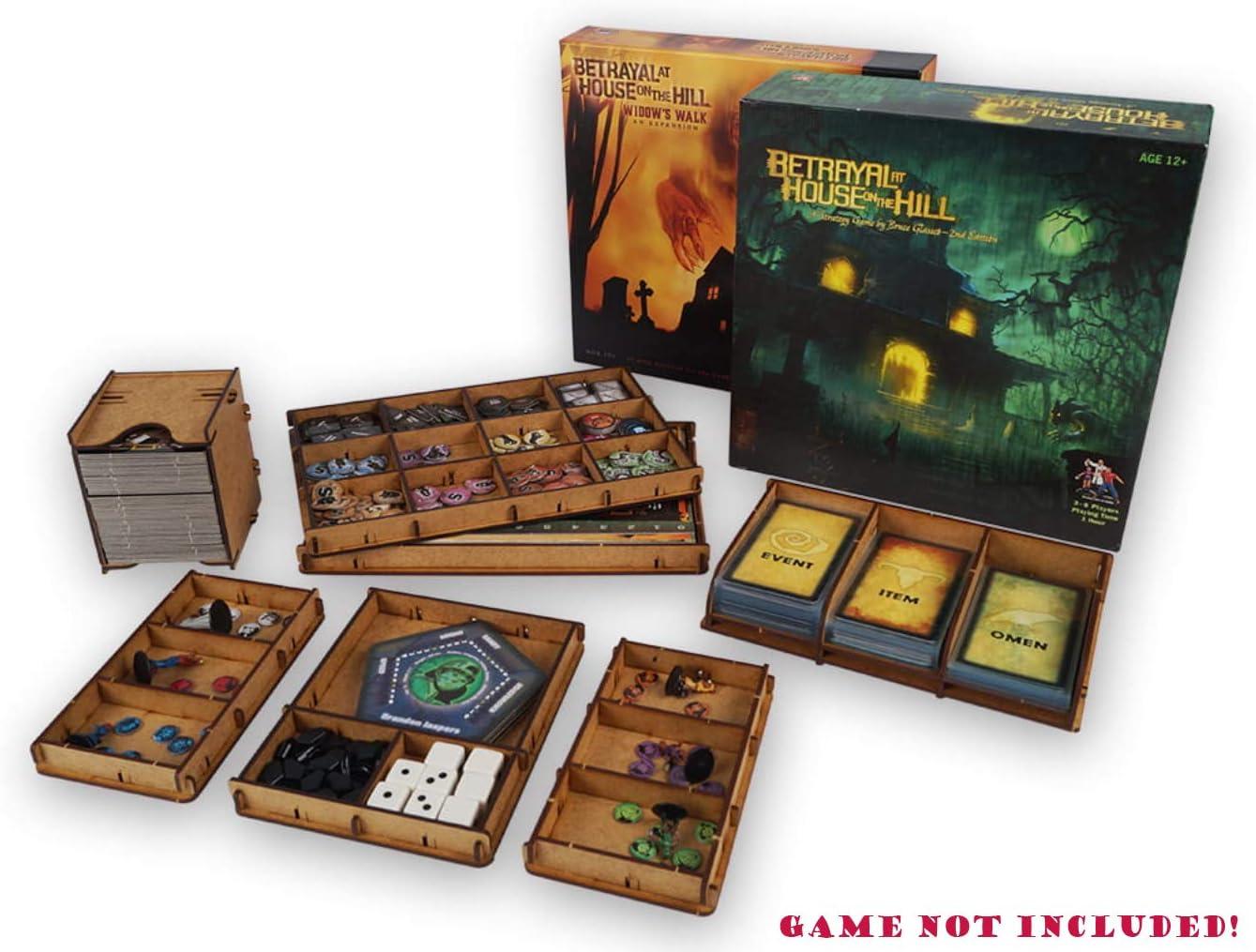 docsmagic.de Organizer Insert for Betrayal at House on The Hill 2nd + Widow Walk Box - Encarte: Amazon.es: Juguetes y juegos