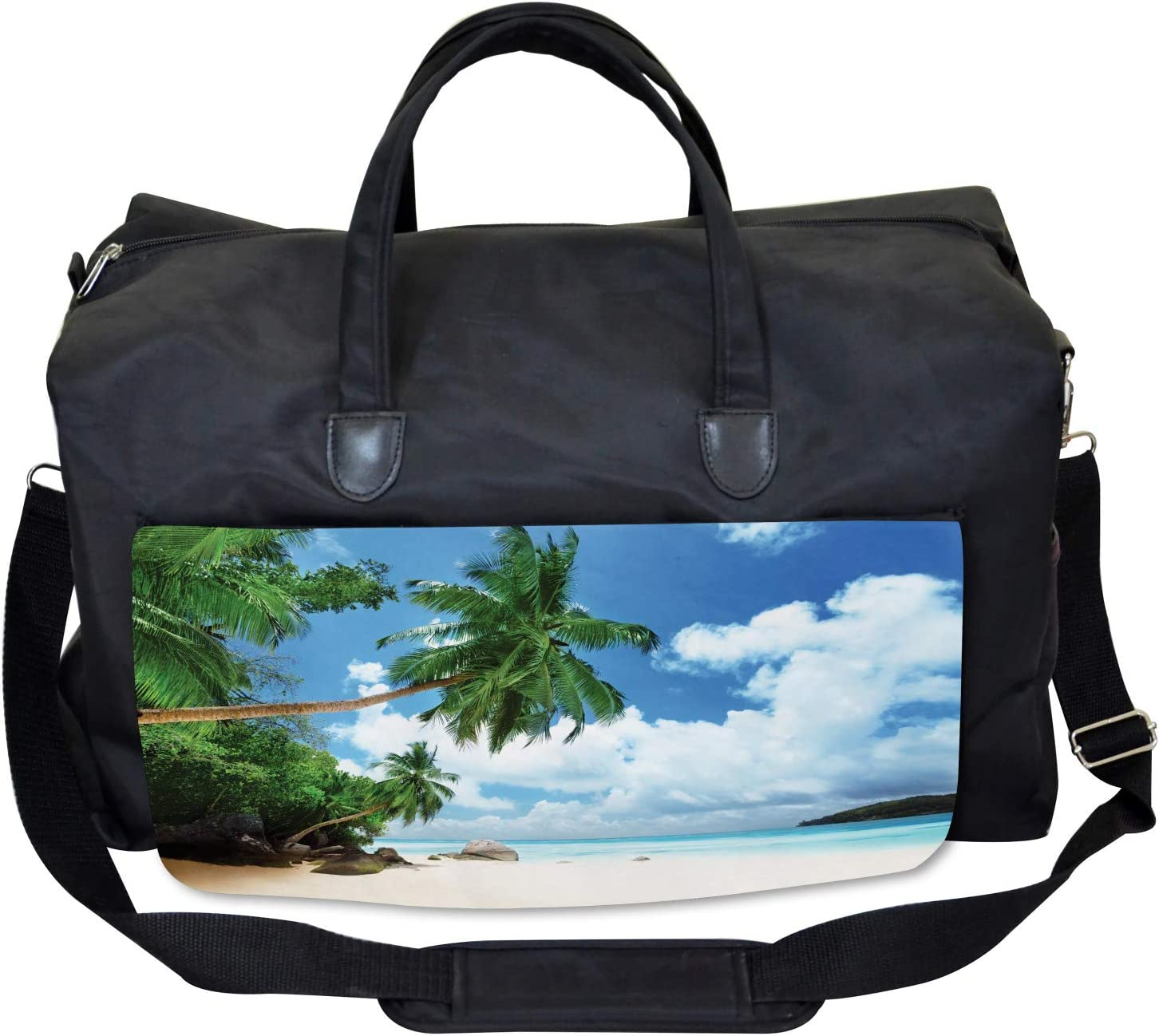 Large Weekender Carry-on Ambesonne Seascape Gym Bag Mahe Island in Seychelles