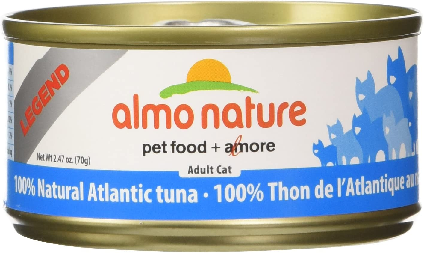 Almo Nature Atlantic Tuna Food (24 Cans Per Case), 2.47 Oz.