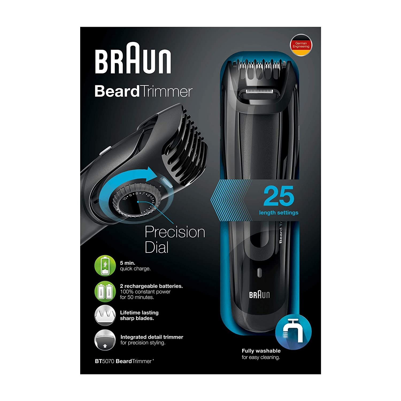 BRAUN BT 5070 BeardTrimmer Barttrimmer Bartschneider mit Präzisionstrimmer