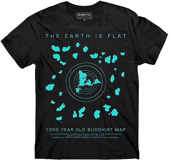Flat Earth T Shirt Buddhist Map Earth Is Flat Firmament Nasa