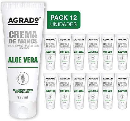 Agrado Crema para manos y uñas - 125 ml. Pack de 12 unidades: Amazon.es: Belleza