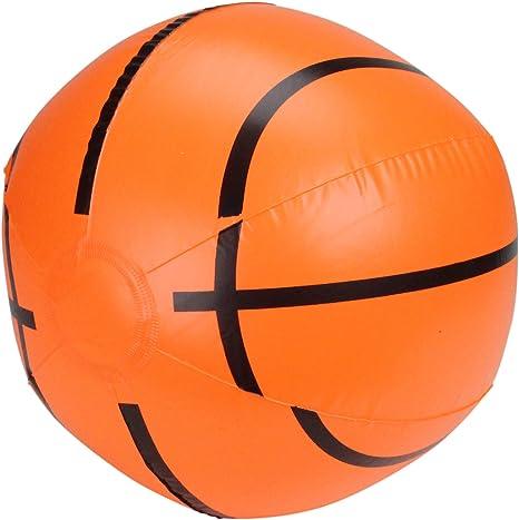 Juguete inflable de 16 pulgadas naranja y negro, 6 paneles, para playa, baloncesto, piscina: Amazon.es: Deportes y aire libre