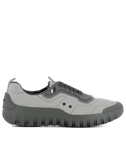 Prada - Zapatillas de Piel para hombre, color gris, talla 41.5