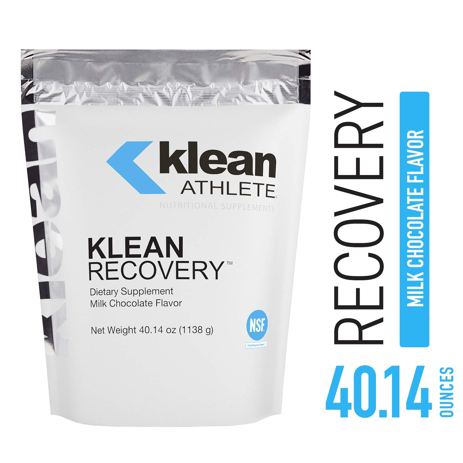 Klean Athlete - Klean Recovery - Optimizes Muscle Recovery After Exercise - NSF Certified for Sport - Milk Chocolate Flavor - 40.14 oz (1138 g)