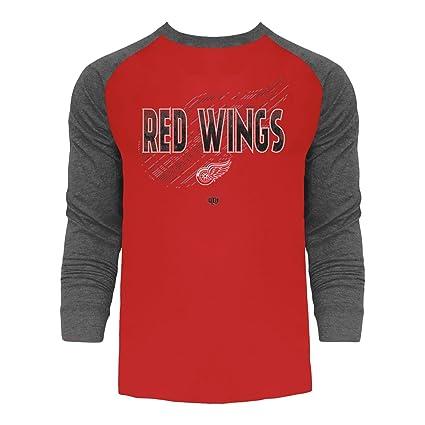 Old Time Hockey Detroit Red Wings Harmell Raglan Long Sleeve T-Shirt Small 3cbd6010d