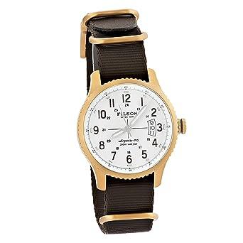 Filson Men s Shinola Mackinaw Field Bronze Nylon Strap Watch F0120004451 1900c994d2