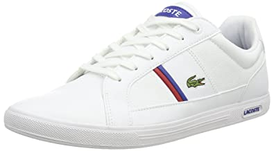 07bb0ad38f Lacoste Europa TCL, Baskets Basses Homme, Blanc (21G), 48 EU: Amazon ...