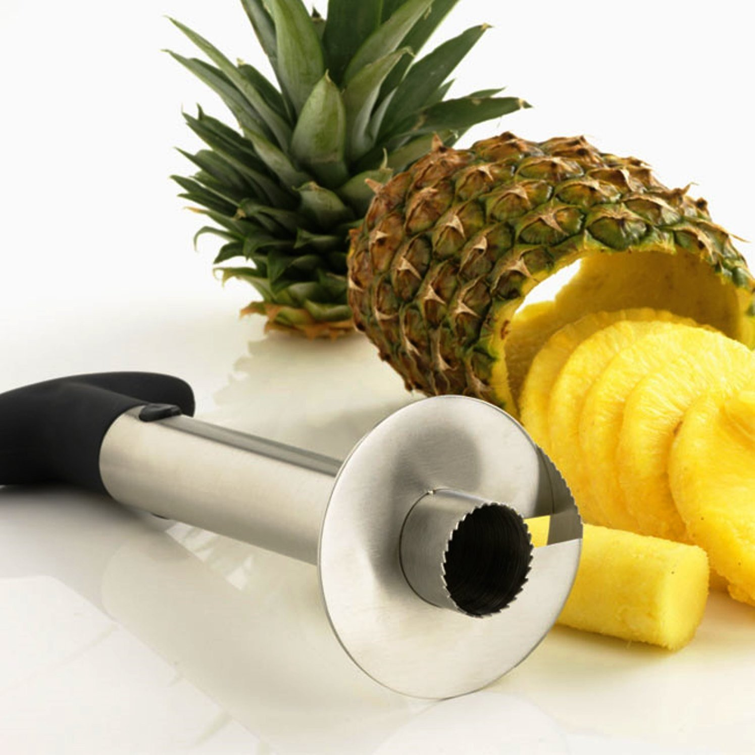 Experty Stainless Steel Pineapple Peeler Corer Slicer Kitchen Gadget - All In One Tool