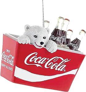 Coca-Cola Kurt Adler Polar Bear Cub in Coke Cooler Ornament, 2.75-Inch