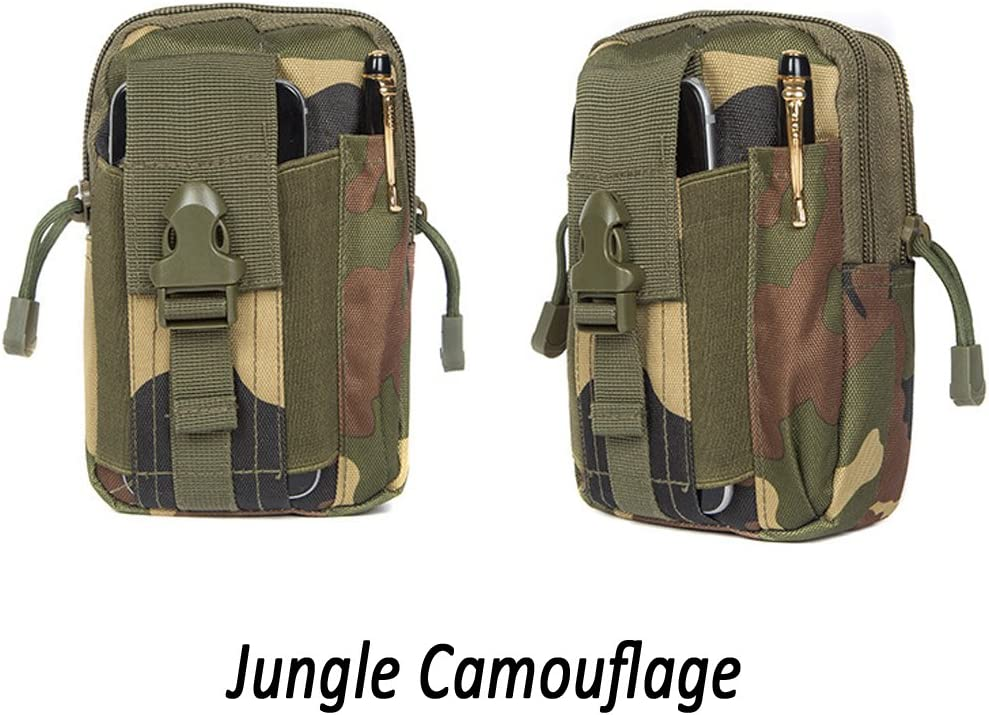 Universal Casual Outdoor Gear Carrying Kit Capacity Tool Belt Waist Pack LU2000 Compact EDC Pouch Utility Gadget Pouch Tactical Backpack for Running Cycling Hiking Camping