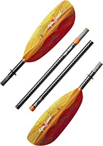 AQUA BOUND Tango Fiberglass Straight Shaft 4-Piece Kayak Paddle