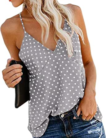 Camiseta Tirantes Mujer Blusa Top Sin Mangas Cami Tank Tops De Gasa Casual para Mujeres