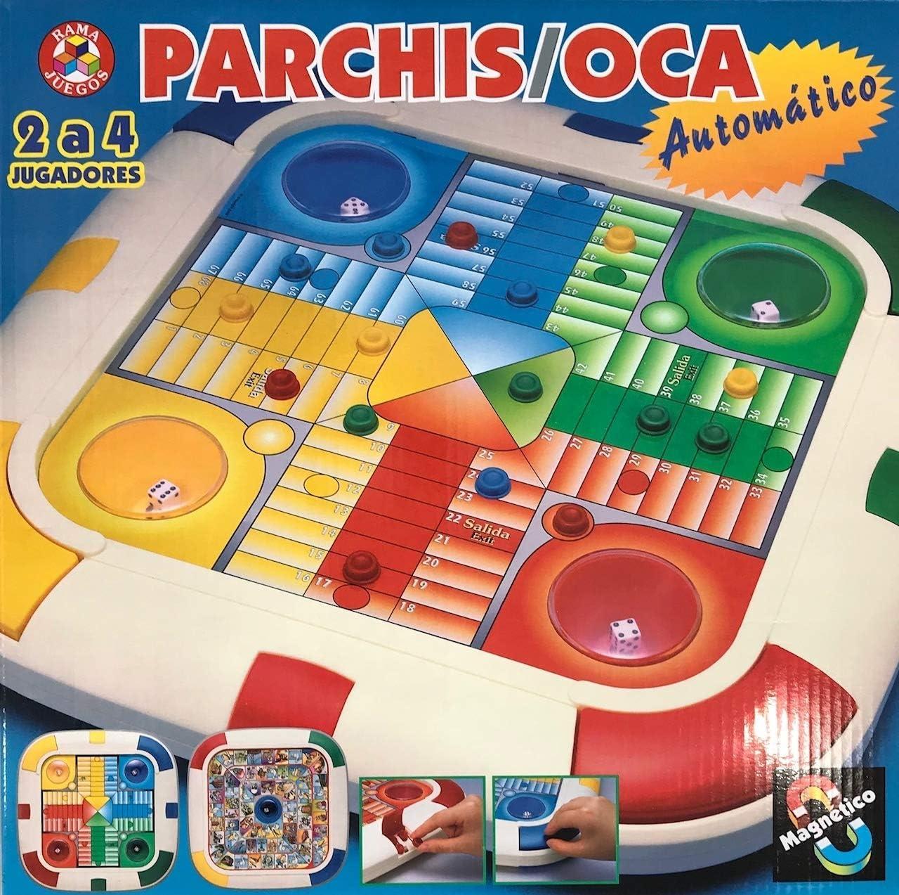 Rama - Juego Parchís y Oca automático y magnético, Multicolor ...