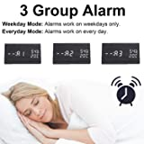 Wooden Alarm Clock - 12H/24H Digital Triangular