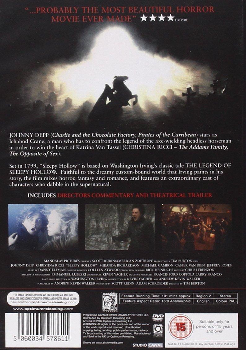 Sleepy Hollow [Reino Unido] [DVD]: Amazon.es: Sleepy Hollow: Cine y Series TV