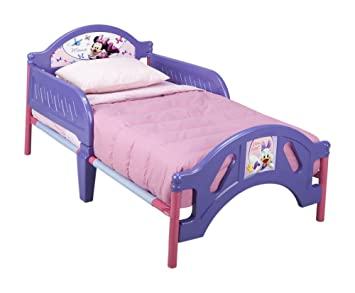 Amazoncom Plastic Toddler Bed Disney Minnie Mouse Childrens