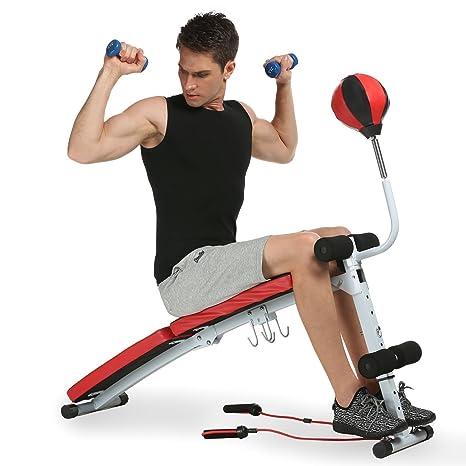 afferty ajustable banco de pesas Fitness mancuernas con bola de velocidad multifunción plegable banco