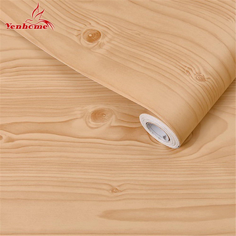 Wood Grain Home Decor Furniture Vinyl Waterproof Wall Stickers Self Adhesive PVC