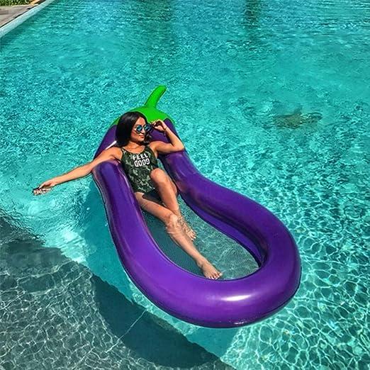 Allywit Eggplanta interactiva Piscina Playa Flotante Agua Hamaca ...