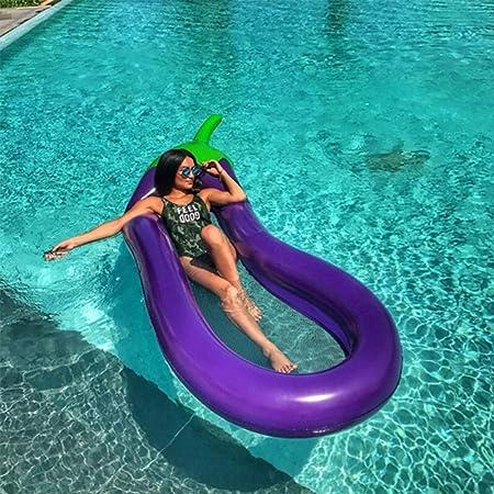 Allywit Eggplanta interactiva Piscina Playa Flotante Agua Hamaca Silla salón Hinchable Agua rafts Flotante Cama, Silla Flotante, sofá de Agua, Piscina Hinchable para Adultos: Amazon.es: Hogar