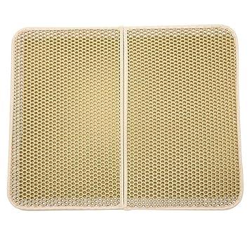 Sannysis Estera de alimentación de nido de abeja de doble capa Mantel individual Colchoneta impermeable para