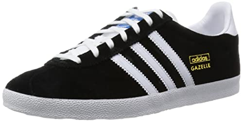 finest selection a57d7 42248 adidas Originals Gazelle Originals, Zapatillas Deportivas para Hombre, ( Negro Blanco   Dorado), 36 EU  Amazon.es  Zapatos y complementos