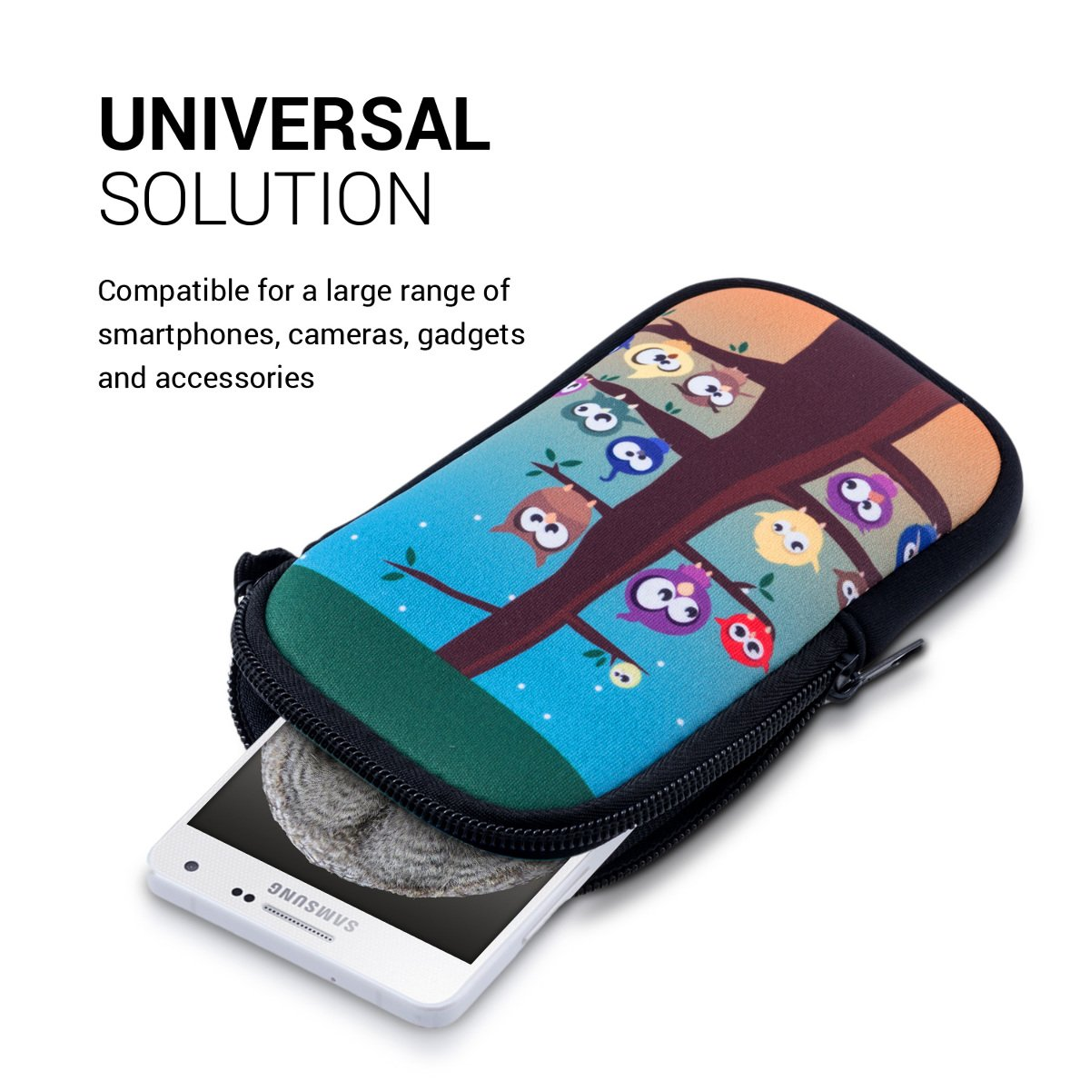 kwmobile phone bag neoprene sleeve for smartphones M - 5,5