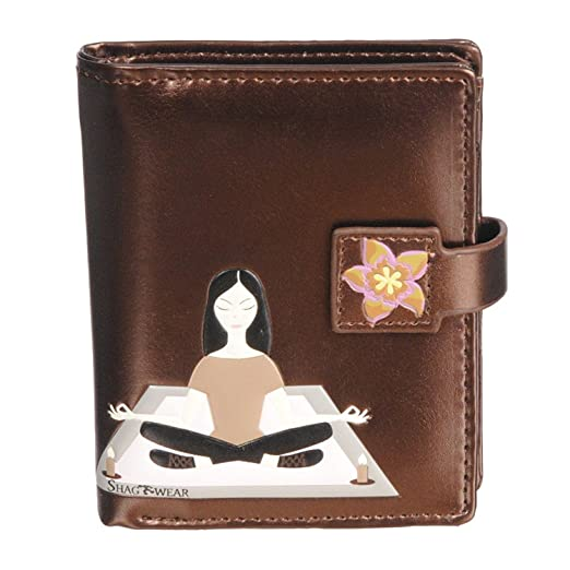 Shag Wear New Womens Small Wallet Yoga Metallic Brown