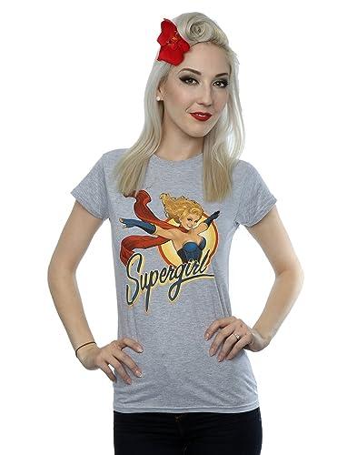 DC Comics Donna Bombshells SuperGirl Badge Maglietta