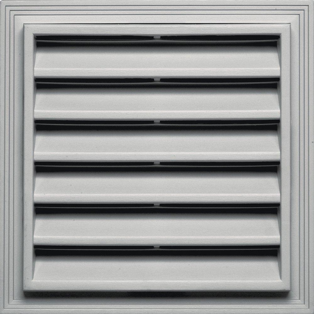 Builders Edge 120051212030 12'' x 12'' Square Vent 030, Paintable