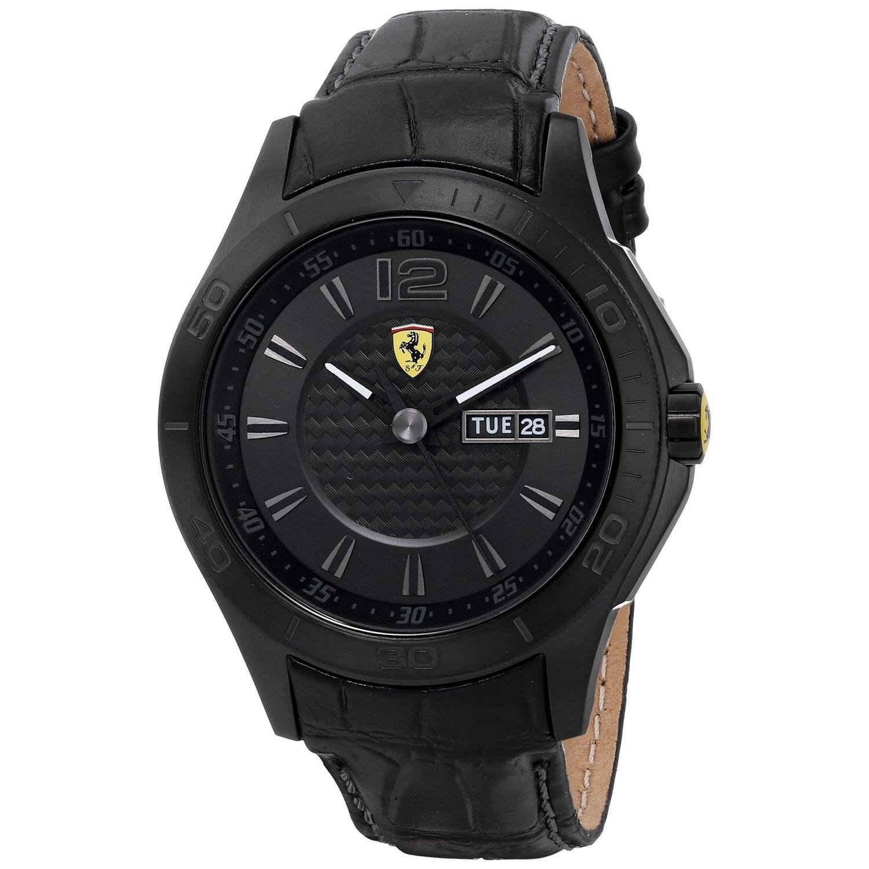 Ferrari Herren-Armbanduhr XL Analog Quarz Leder 830093