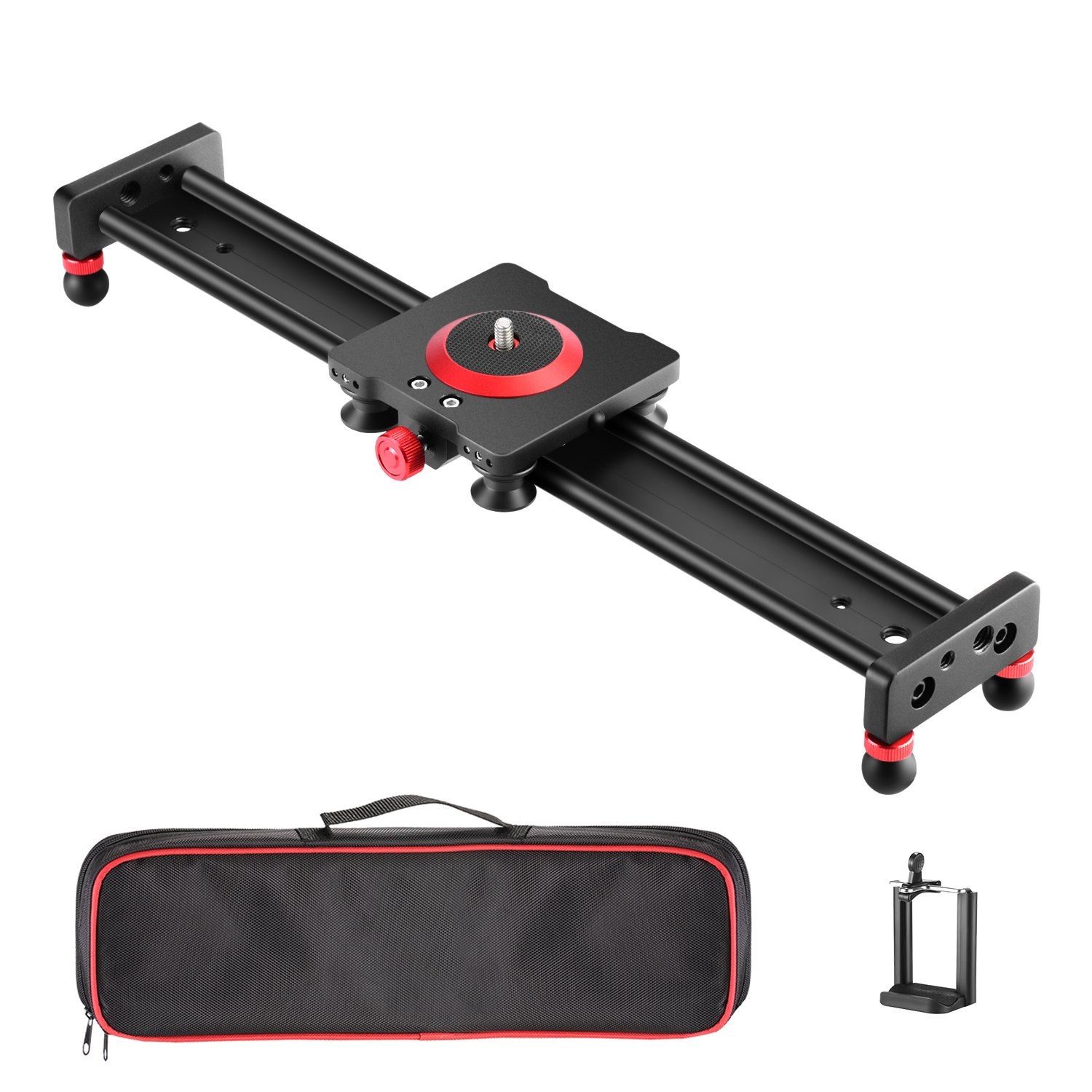 Neewer Camera Slider Aluminum Alloy Dolly Rail,16 inches/40.