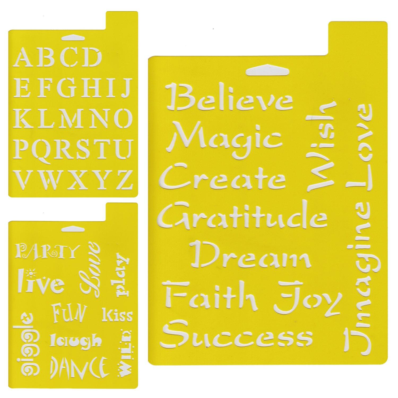 Delta Creative stencil stencil, 7da 25,4cm, 97sm-2190font e frasi (confezione da) Plaid Inc