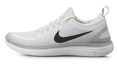 a821c7377caec Amazon.com | Nike Men's Free RN Distance 2, White/Black-Pure ...